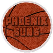 Phoenix Suns Leather Art Round Beach Towel