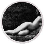 Photo Erotique D'une Femme Nue Round Beach Towel