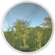 Photo Impressionism Round Beach Towel