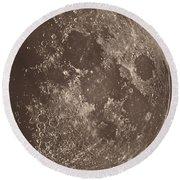 Photographie De La Lune A Son 1er Quartier Round Beach Towel