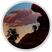 Photographing The Landscape Round Beach Towel