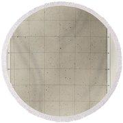 Photographische Sternkarten (march 2, 1906) Round Beach Towel