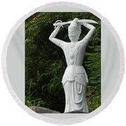 Phu My Statues 3 Round Beach Towel