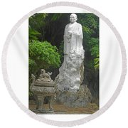 Phu My Statues 5 Round Beach Towel