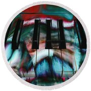 Piano Colors Round Beach Towel