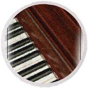 Piano Keys Round Beach Towel