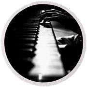 Piano Player Round Beach Towel by Scott Sawyer
