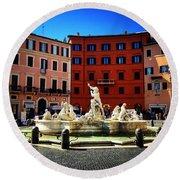 Piazza Navona 4 Round Beach Towel