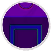 Piazza Purple Round Beach Towel