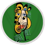 Picasso Influence Round Beach Towel