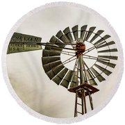 Piceance Basin Windmill Round Beach Towel