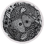 Pices Round Beach Towel