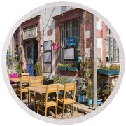 Pick A Table Round Beach Towel