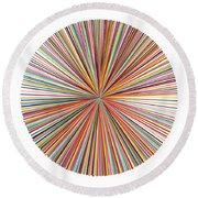 Pick-up-stix Round Beach Towel