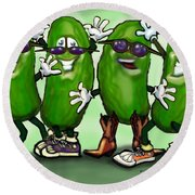 Pickle Party Round Beach Towel