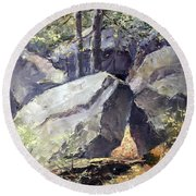 Pickle Springs State Park Round Beach Towel