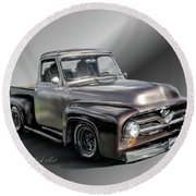 Pickup Named Penny Round Beach Towel