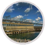Pickwick Landing Dam Pickwick, Tennessee Round Beach Towel
