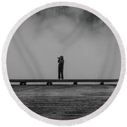 Picture Round Beach Towel