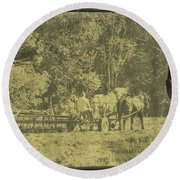 Picture Of Amish Boy In Book Round Beach Towel