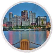 Picture Perfect Pittsburgh Round Beach Towel