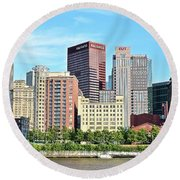 Picture Perfect Pittsburgh Panoramic Round Beach Towel
