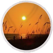 Picture Perfect Sunset Round Beach Towel