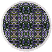 Picture Putty Puzzle 06 Round Beach Towel