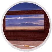 Picture Window Round Beach Towel
