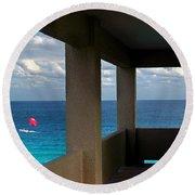Picture Windows Round Beach Towel
