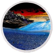 Pictures From Venus Round Beach Towel by Rebecca Margraf