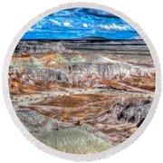 Picturesque Blue Mesa Round Beach Towel
