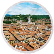 Picturesque Cityscape Of Verona Italy Round Beach Towel