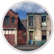 Picturesque Derelict Houses In Hull England Round Beach Towel