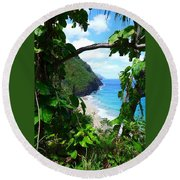 Picturesque Hawaii  Round Beach Towel