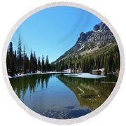 Picturesque Lake Round Beach Towel