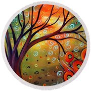 Piece Of Eden Round Beach Towel