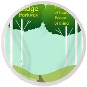 Piece Of Heaven Peace Of Mind Round Beach Towel