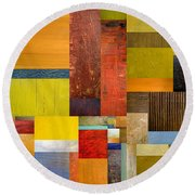 Pieces Project L Round Beach Towel