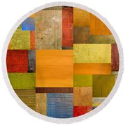 Pieces Project Ll Round Beach Towel