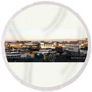 Pier 39 Panorama Round Beach Towel