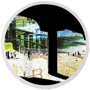 Pier Abstract Round Beach Towel