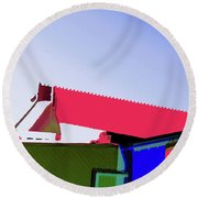 Pier Abstraction Round Beach Towel