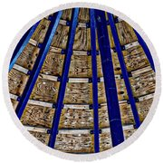 Pier Ceiling Round Beach Towel