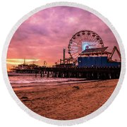 Pier Round Beach Towel