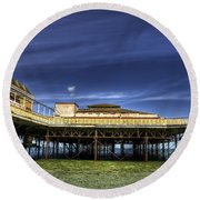 Pier Structure Round Beach Towel