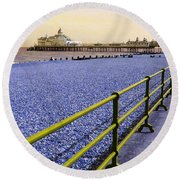 Pier View England Round Beach Towel