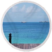 Pier View Round Beach Towel