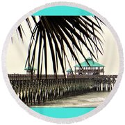 Pier Walk Round Beach Towel