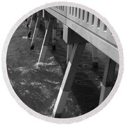 Pier Willmington Nc Round Beach Towel